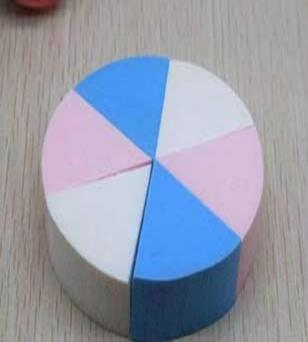 优质圆形四色八切粉扑三角形化妆棉