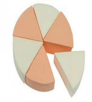 天然乳胶SBR三角形小粉扑