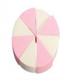 乳胶圆形四色干湿两用海绵小粉扑三角形蛋糕扑