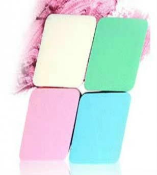 天然乳胶菱形化妆棉